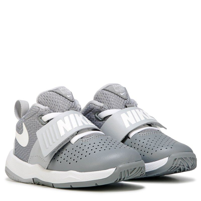 1d4f7a9df8 Nike Kids' Team Hustle 8 Just Do It Basketball Shoe Toddler Shoes (Grey/ White)