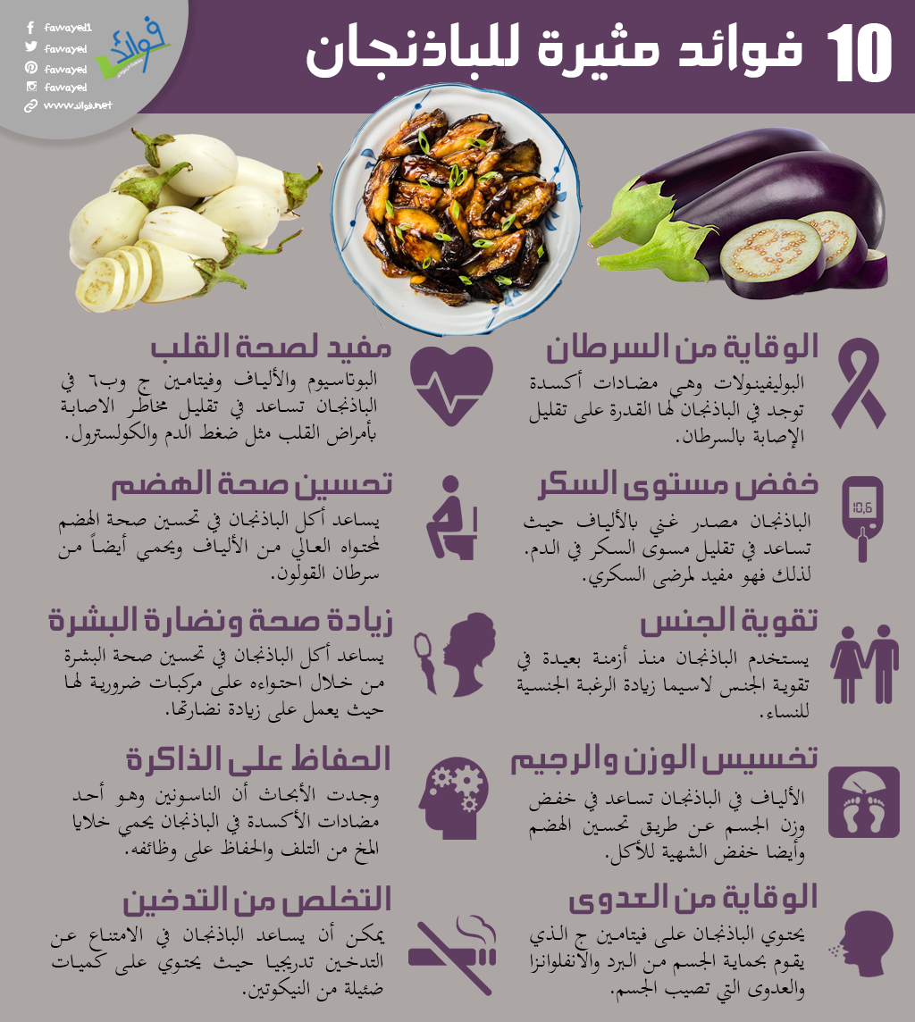 10 فوائد غذائية للباذنجان Vegetable Benefits Health Diet Health Fitness Nutrition