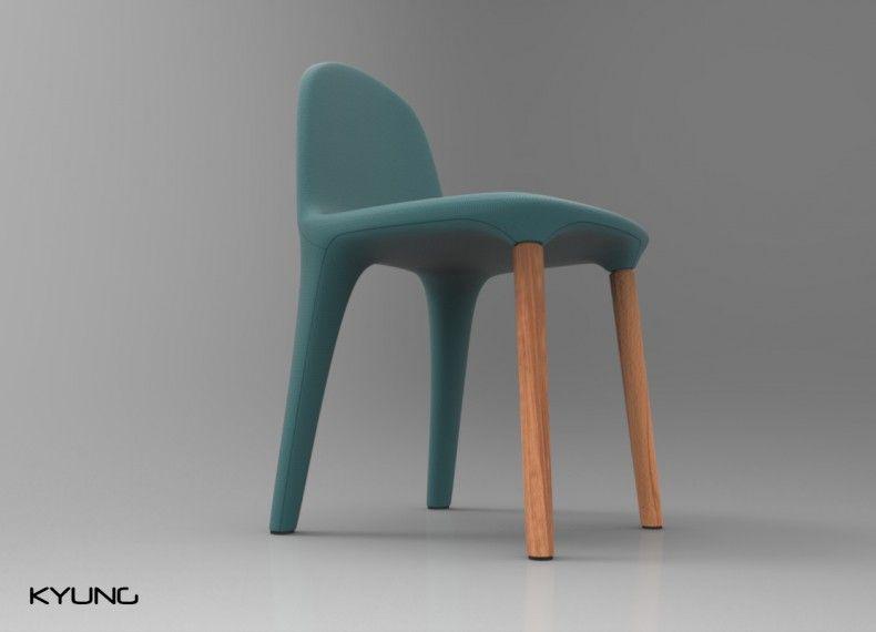 Kyung | seduta imbottita e legno massello