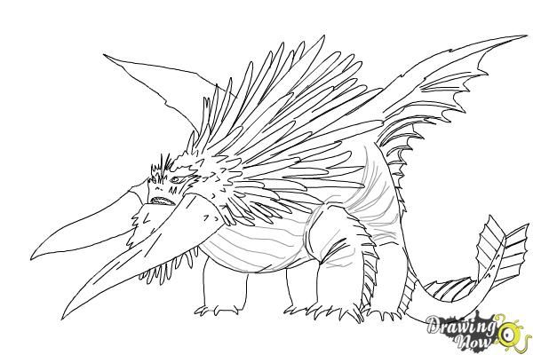 how to draw bewilderbeast from how to train your dragon 2 step 10