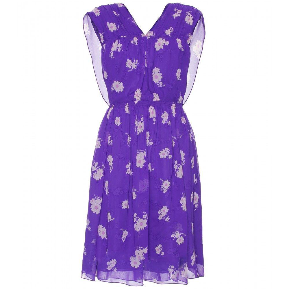 FLORAL PRINT SILK DRESS seen @ www.mytheresa.com | My Fashion Style ...