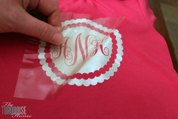 DIY Glittery Monogrammed T-shirt - The Turquoise Home