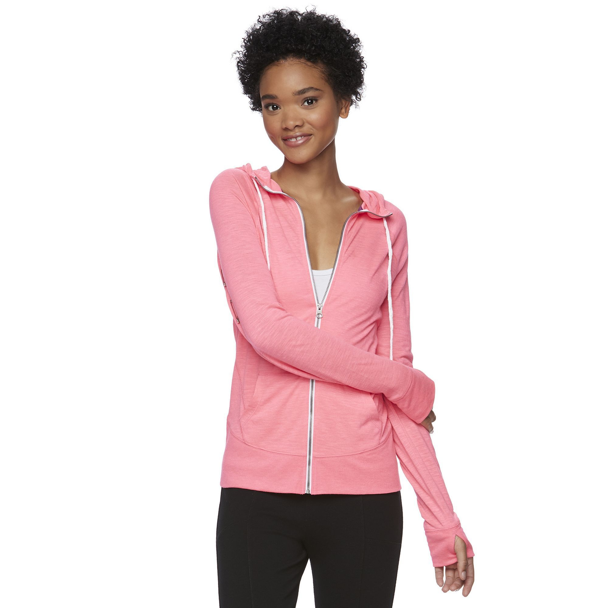 Juniors' SO® Solid Zip Up Hoodie, Teens, Size: Medium, Dark Pink