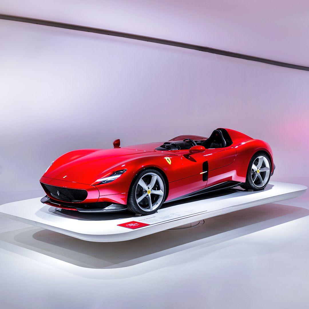 Ferrari On Instagram Ferrarimonzasp1 Classic Barchetta Forms Meet Single Seater Thrills The Capolavori Senza Tempo Exhi Ferrari Roadster Car Ferrari Car