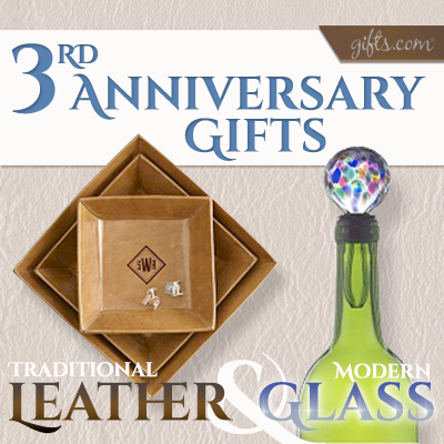 Third Anniversary Gift Guide. See what the traditional vs