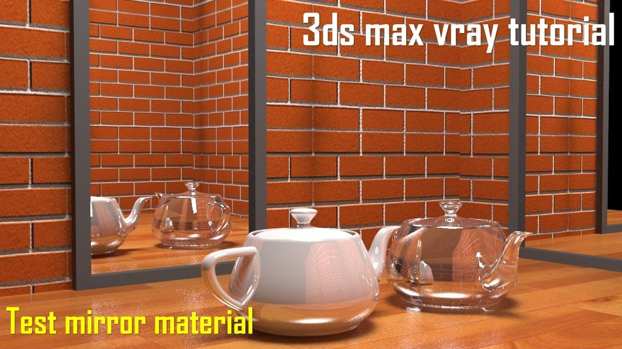 3ds max vray tutorial 3ds max vray mirror material 3d for Mirror vray material