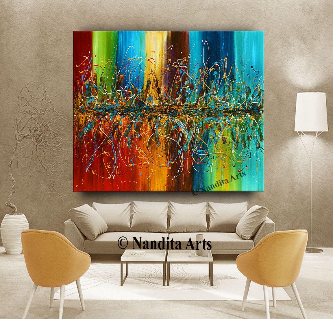 jackson pollock abstract painting 96 acrylic painting on on modern acrylic paintings for living room id=80951