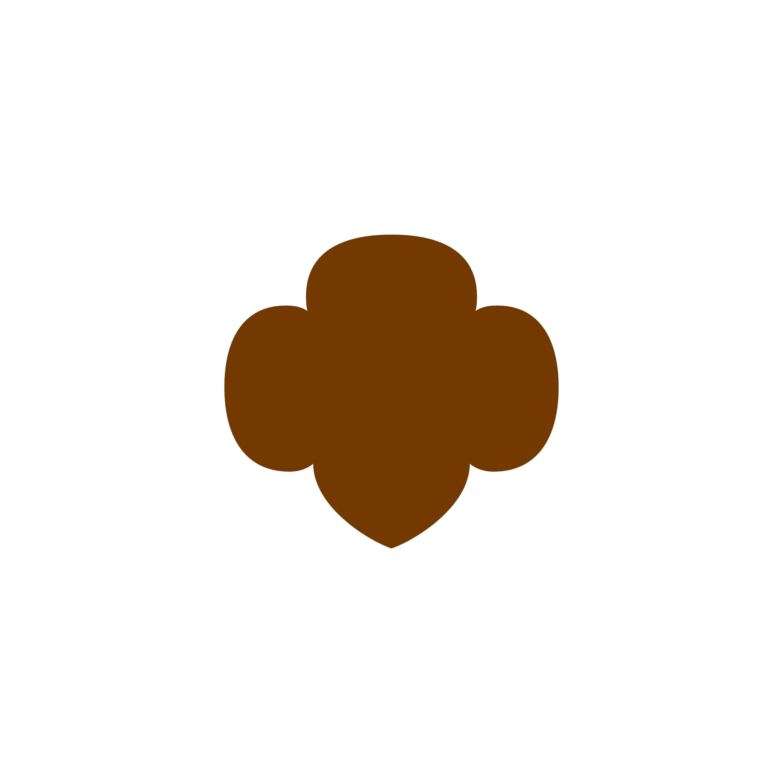 girl scout brownie elf clip art age level trefoils gs stuff rh pinterest co uk  girl scout trefoil clipart