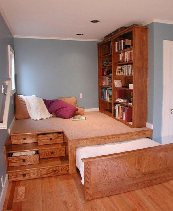 60 id es pour un am nagement petit espace am nagement astucieux bedroom small rooms et. Black Bedroom Furniture Sets. Home Design Ideas