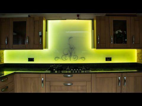 LED SWIRLS Glass Splashback by Creoglass Design Modern Kitchen Glass Splashbacks 01923 819 684