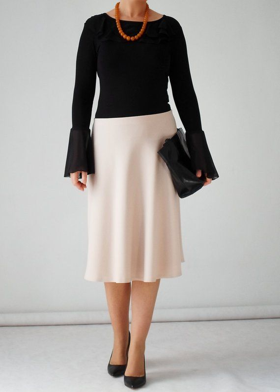c184388d3a2 A-line midi skirt