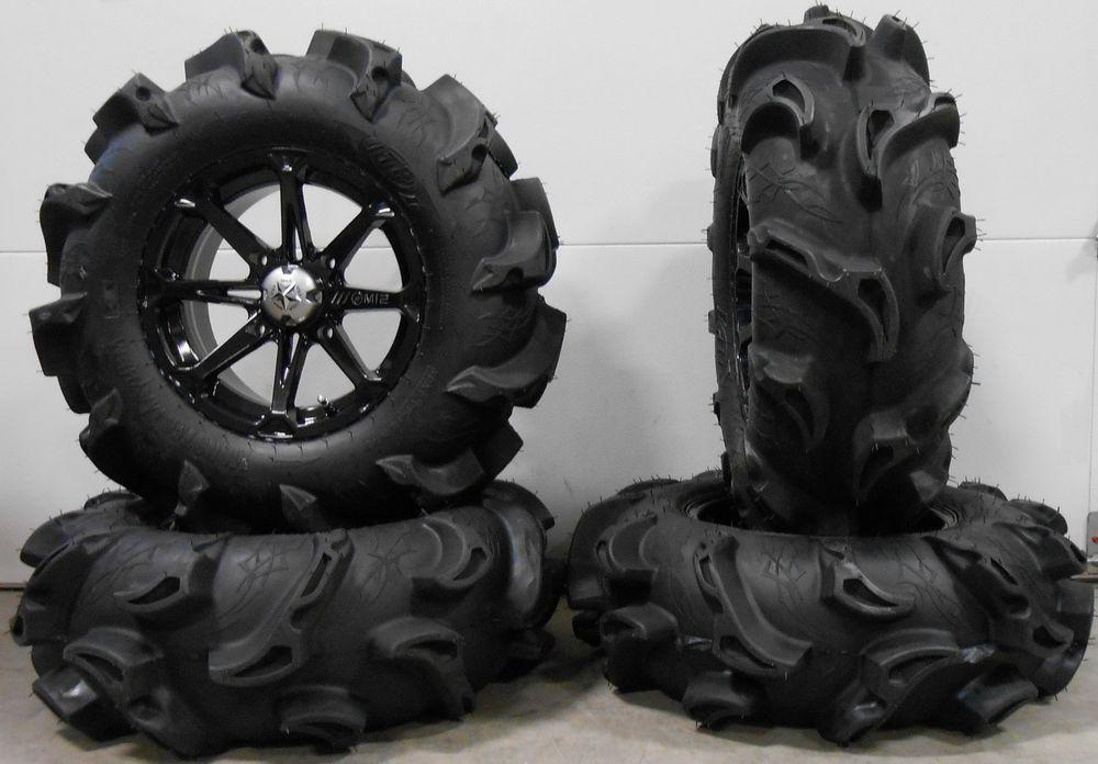 Msa Bk Diesel 14 Atv Wheels 30 Monster Mayhem Tires Can Am Renegade Outlander Ebay Motors Parts Accessories Atv P Atv Wheels Black Diesel Yamaha Viking