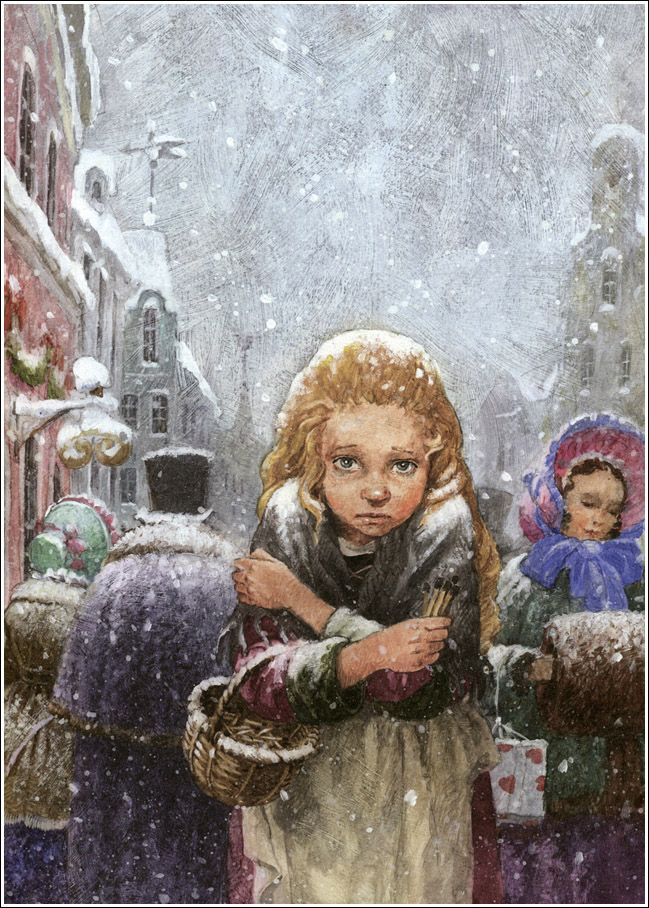 çizgili masallar: The Little Match Girl by Natalia Demidova | The little match girl, Fairytale art, Andersen's fairy tales