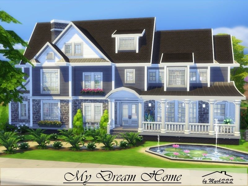 My dream home is  charming suburban built on  lot in newcrest found tsr category  sims residential lots also rh pinterest