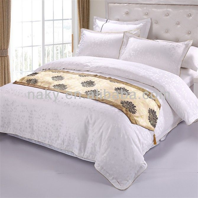 Marriott Hotel Stock Bed Runner Jacquard Bedding Scarf Cushion Cover 5 12
