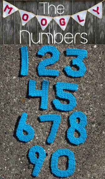 The Moogly Crochet Numbers Häkeln Pinterest Häkeln Stricken