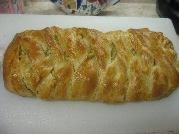 Chicken and Broccoli Braid: From Pampered Chef... Best recipe ever! Awesome for apps at a party or gathering. My mom used to make this growing up. Delicious!