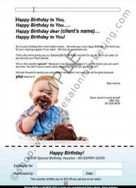 Happy Birthday Gift Voucher Client Letter A Birthday Letter