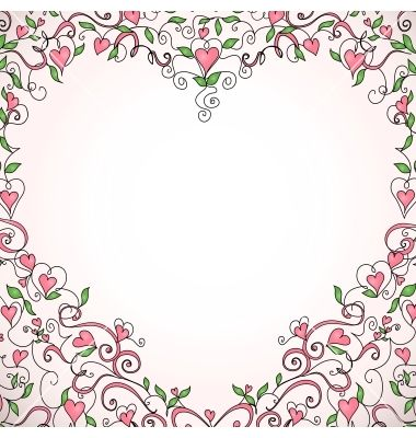 Heart-shaped frame vector by Olga_Lebedeva on VectorStock® | marco ...