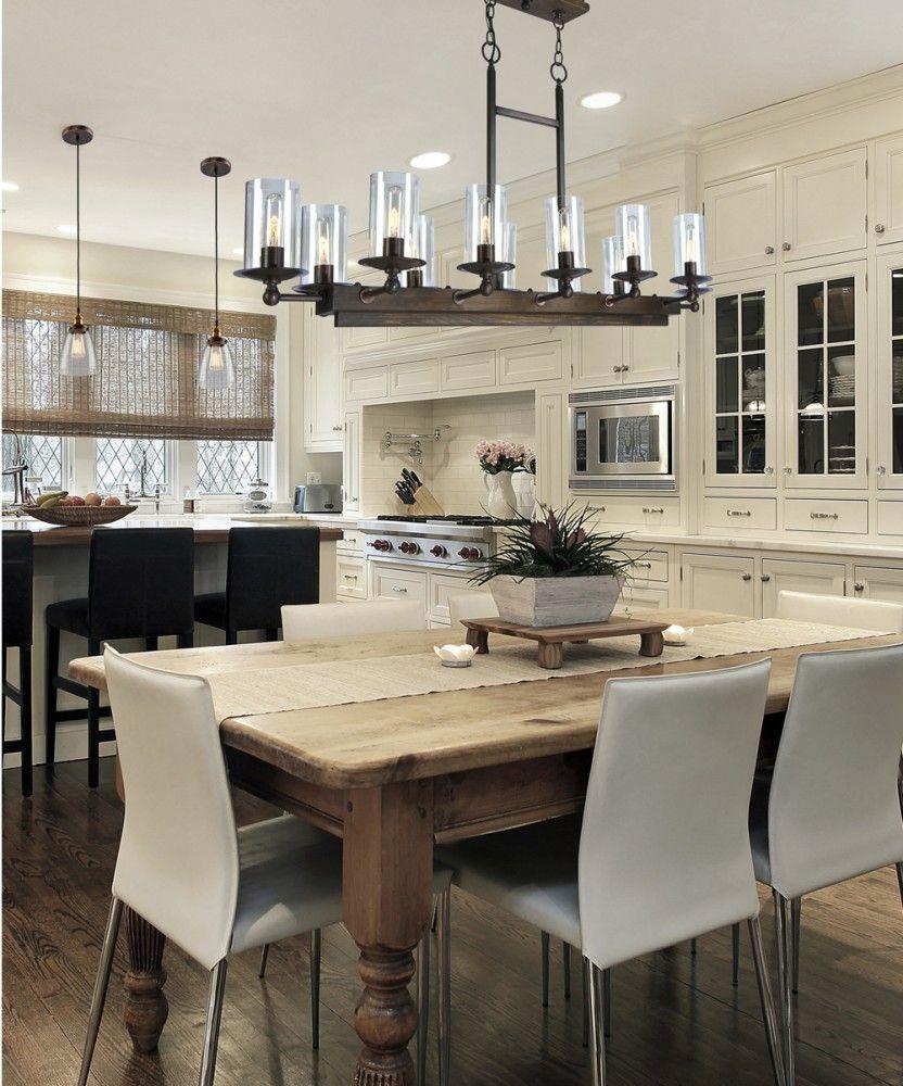 Light Pine Kitchen Cabinets: Artcraft Lighting Legno Rustico AC10140BU Island Light