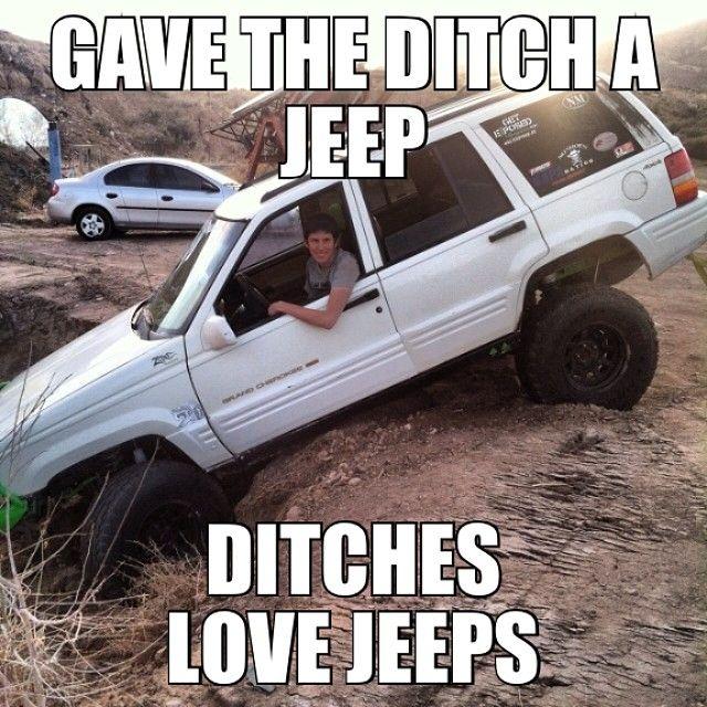 It S A Jeep Meme Itsajeepmeme Jeep Ditch Hashtag
