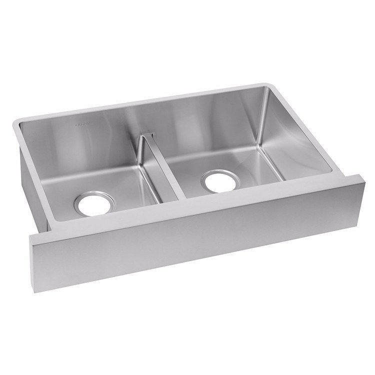 Elkay Ectrufa32179 Crosstown 35 7 8 Double Bowl Stainless Steel