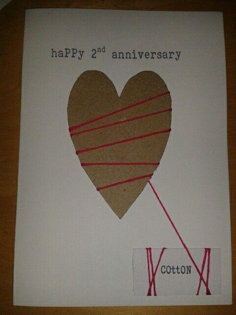 2nd Wedding Anniversary Card Anniversary Cards Handmade Wedding Anniversary Cards Anniversary Cards