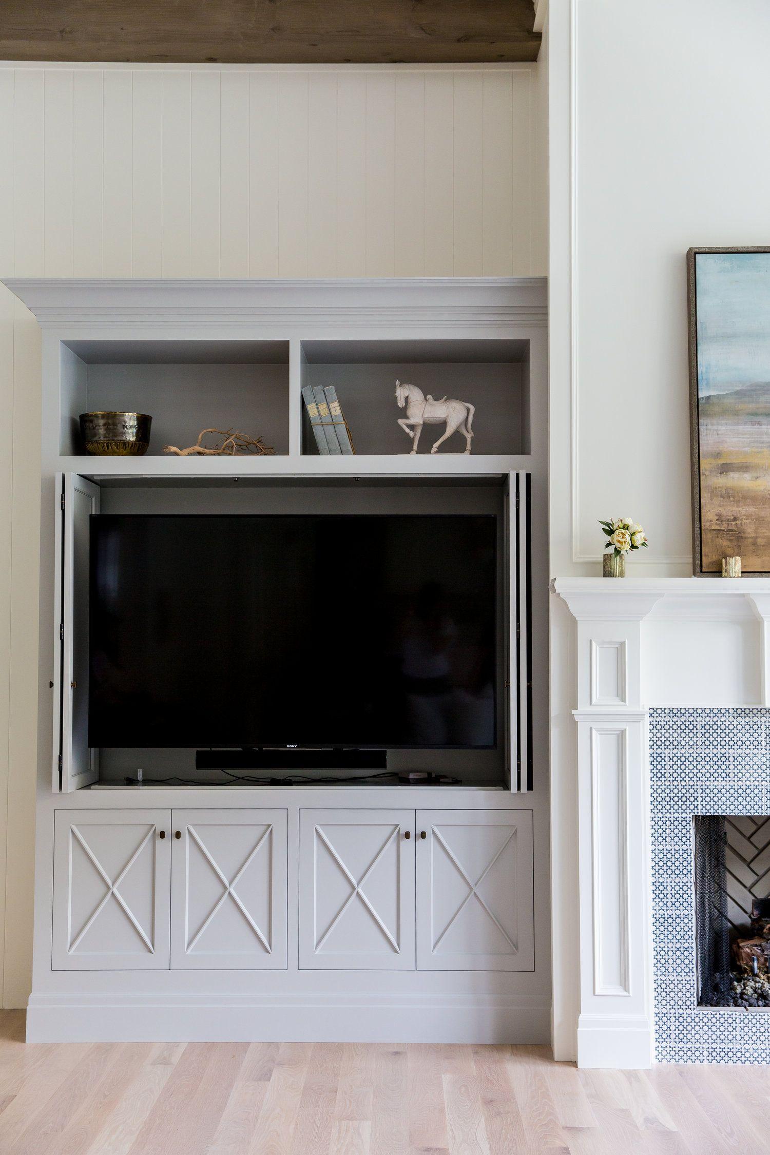 TV with fold away doors design, Media