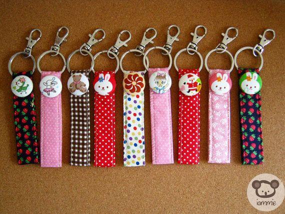 Pink Rabbit Keychain by iammieCozyShop, $4.50