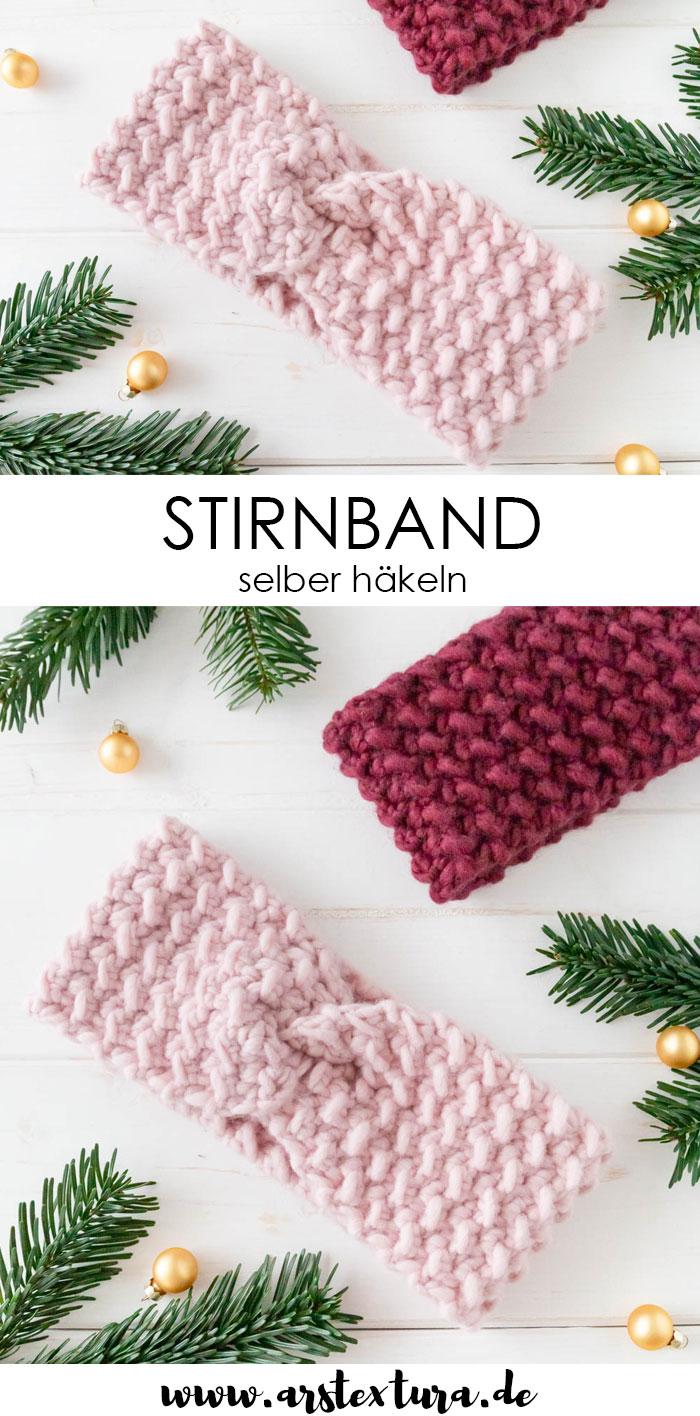 Photo of Einfaches Stirnband mit Körnchen-Muster häkeln | ars textura – DIY-Blog