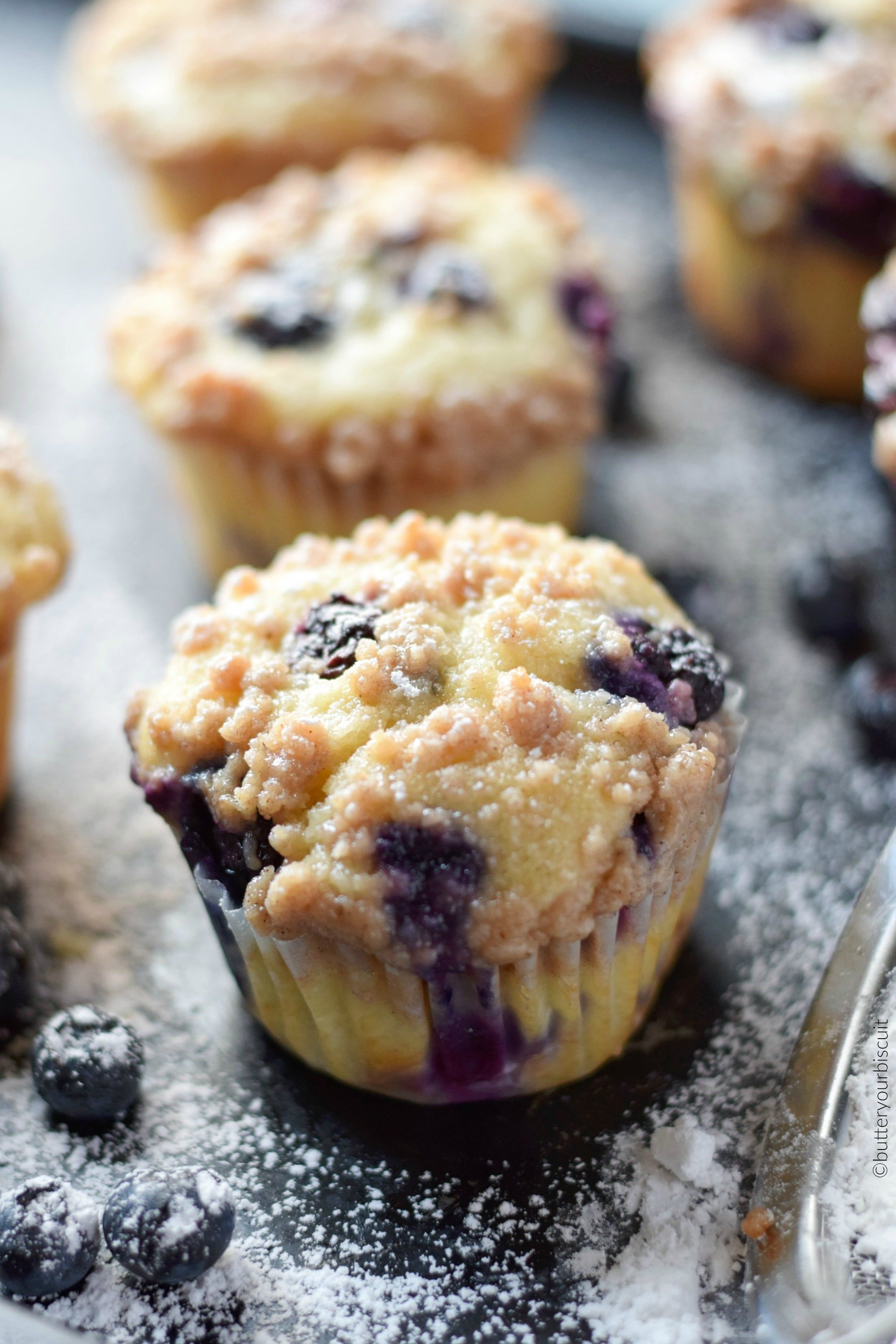 Sour Cream Blueberry Muffins Recipe Butter Your Biscuit Recipe Sour Cream Blueberry Muffins Muffin Recipes Blueberry Blue Berry Muffins