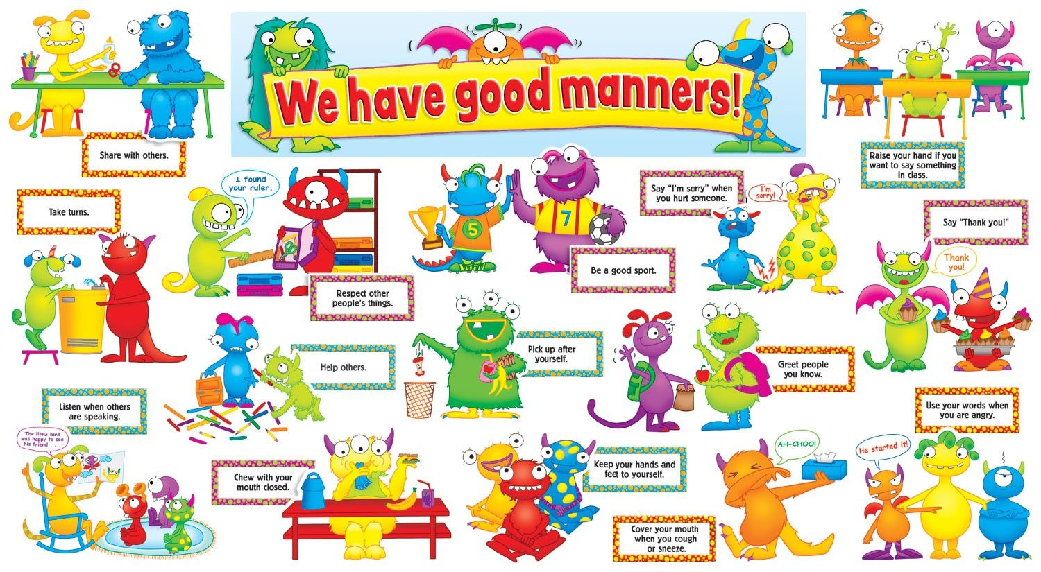 Good Manners For Kids Preschool Perfect For First Day Of