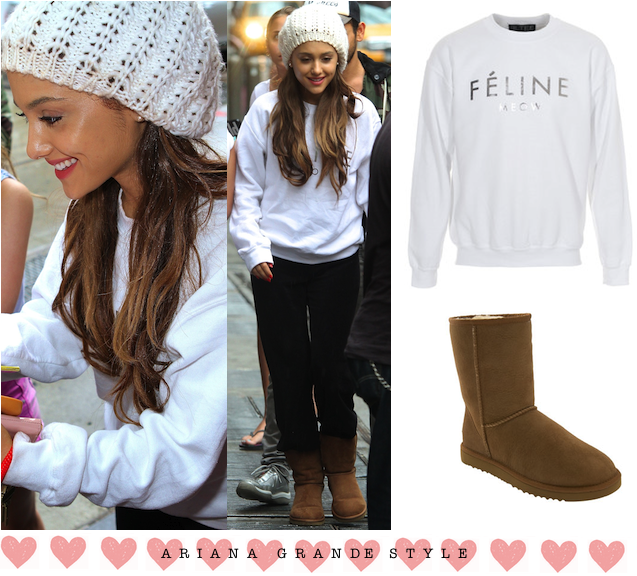 Ariana grande wearing winter outfits