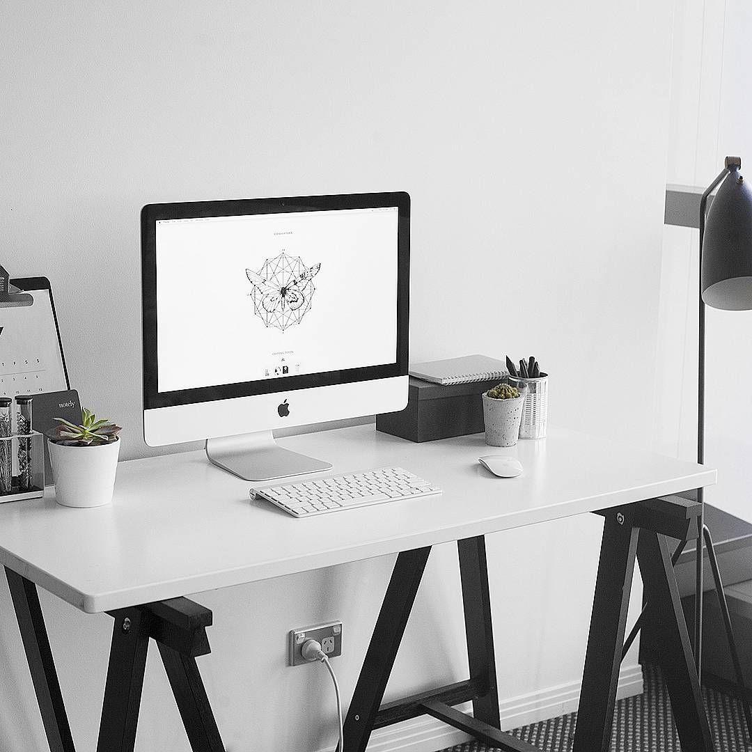 Pinterest Mylittlejourney Cozy Home Office Minimalist