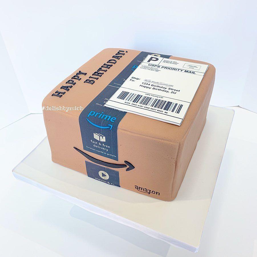 Amazon prime box birthday cake tutorial in link in 2020