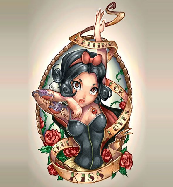 Princesas da Disney Tatuadas | Beauty Rock