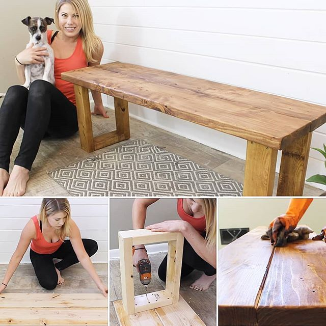 """The Rehab Life on Instagram: """"Need a cool idea for a Christmas gift? One that just screams that you care??? This easy DIY bench will really hit the spot! At a cost of…"""""""