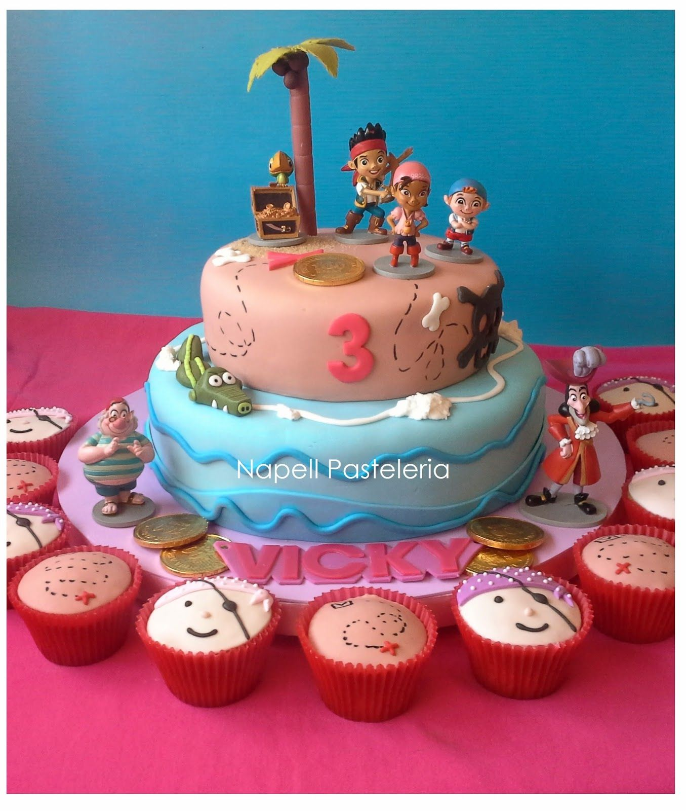 Decoraci n jake y los piratas de nunca jam s pictures to pin on - Torta Y Cupcakes Jake Y Los Piratas Jpg