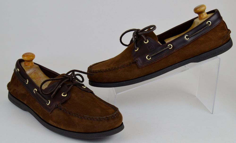 61382608cfd Sperry Top-Sider Men's Boat Shoes Size 13 M Brown Nubuck Suede ...