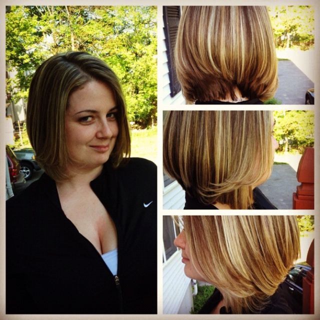 Cut & color! Love what I do!! #hairdresser #hairstylist #color #hair #cut