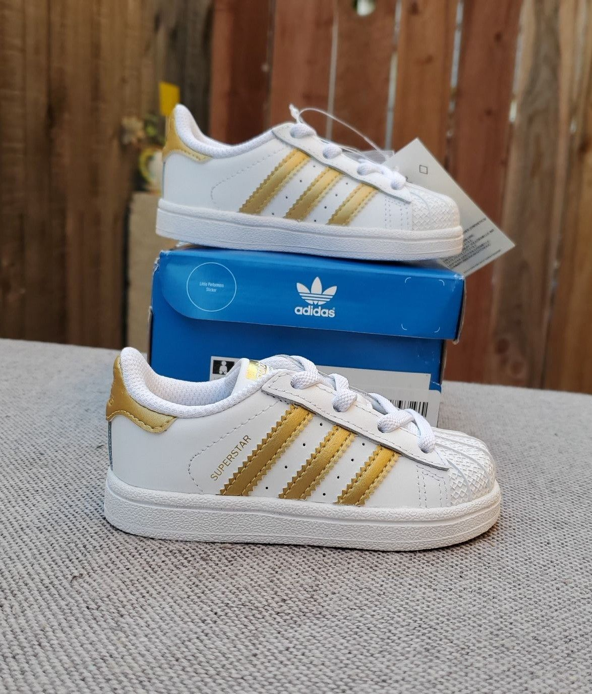 Brand new adidas Superstar Toddler / baby shoes size 5.5k. With ...