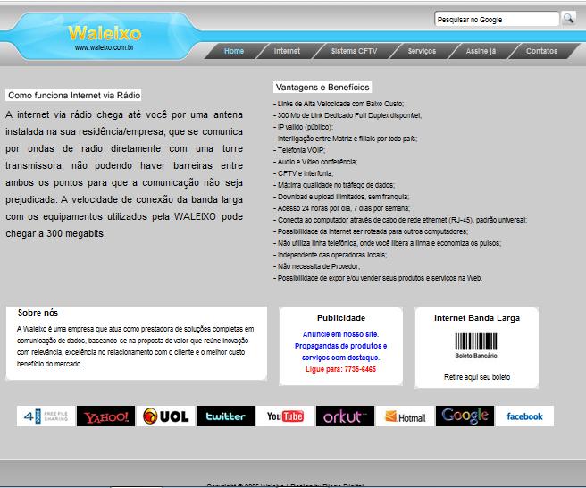 www.aleixo.com.br - Criei este site em fevereiro de 2011.