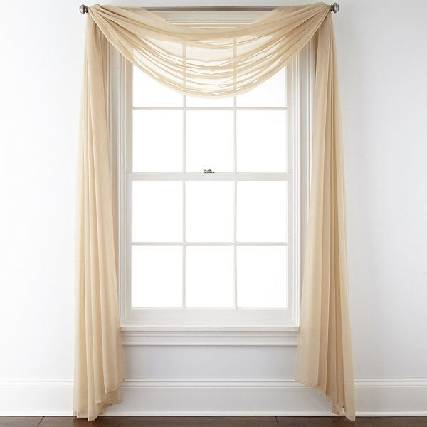 Sheer Scarf Valance Window Treatments Part - 30: Liz Claiborne® Lisette Sheer Scarf - JCPenney · Scarf ValanceLiz ClaiborneWindow  Treatments