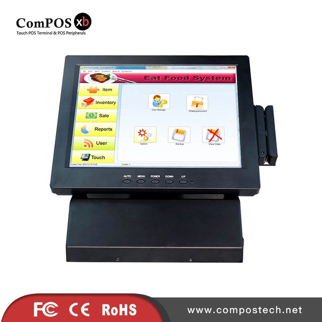 Pos System 12inch Lcd Monitor 12 Inch Pos Touch All In One Pc Cash Register Di 2020