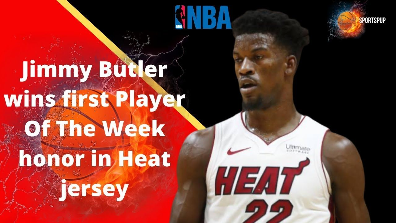 Jimmy Butler Wins First Player Of The Week Honor In Heat Jersey In 2020 Players Jersey Butler