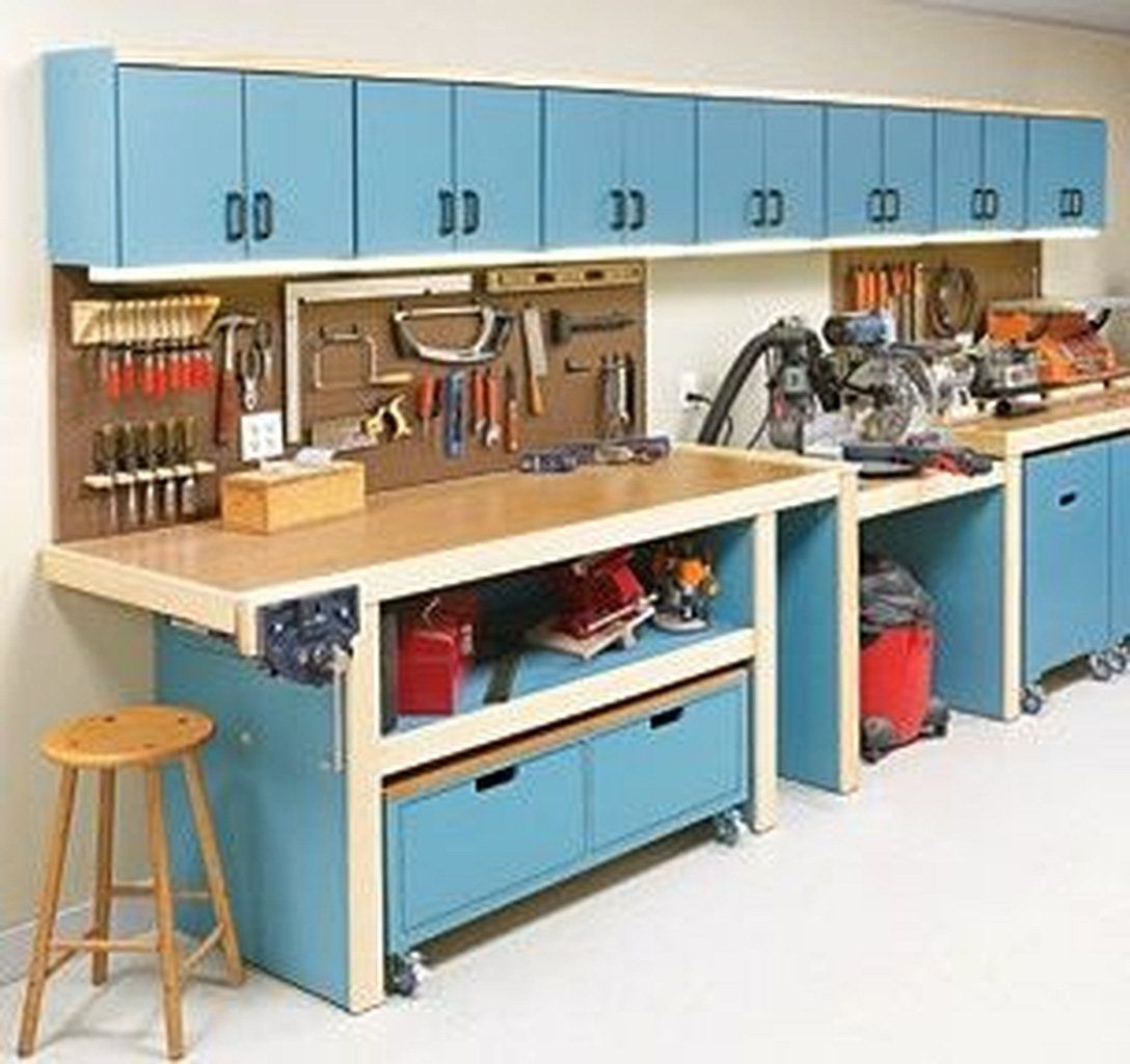 Workshop Storage Ideas Workbenches 8 Garage Pinterest Garage