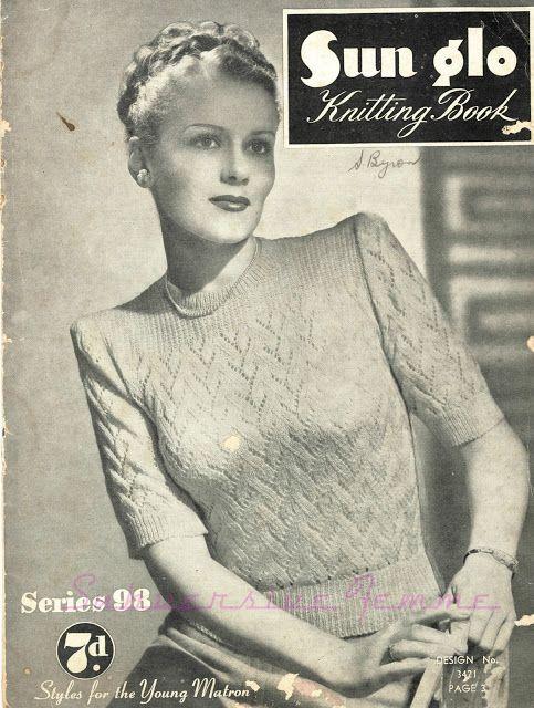 Lujoso 1940s Knitting Patterns Friso - Coser Ideas Para Vender ...