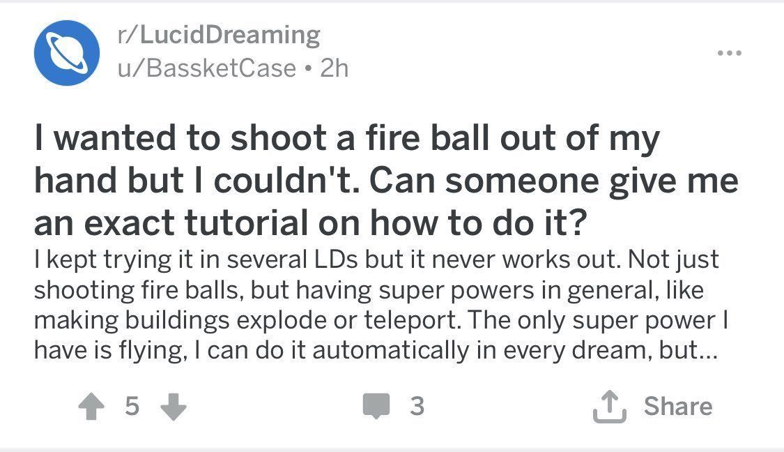 the lucid dreaming reddit is wild | supernatural realms