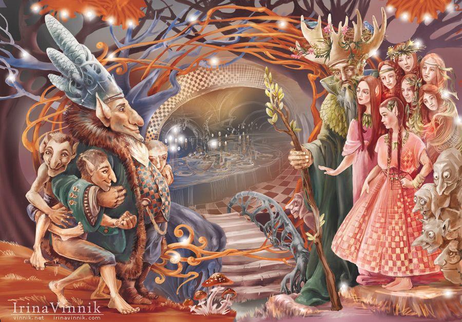 Волшебные сказки графические иллюстрации фото набросок