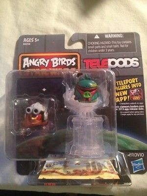 Hasbro Angry Birds Star Wars Telepod Figures Boba Fett And Luke